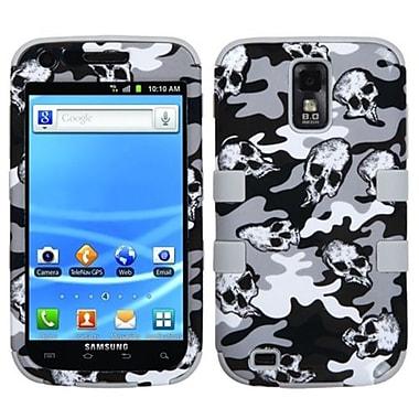 Insten® TUFF Hybrid Phone Protector Cover F/Samsung T989 Galaxy S2, Gray Skull Camo/Gray