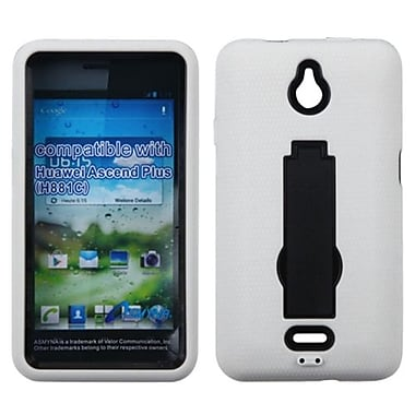 Insten® Symbiosis Stand Protector Case For Huawei H881C Ascend Plus, Black/White