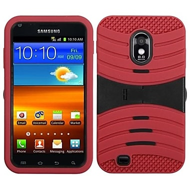 Insten Symbiosis Protector Cover For Samsung D710, R760, Galaxy S II 4G, Black/Red Wave (1336899)