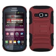 Insten® Advanced Armor Stand Protector Cover For Samsung M840; Red/Black