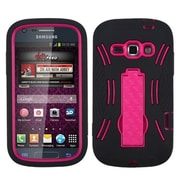 Insten® Symbiosis Stand Protector Cover For Samsung M840; Hot-Pink/Black