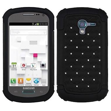 Insten® Lattice Dazzling Protector Cover For Samsung T599 Galaxy Exhibit, Black/Black