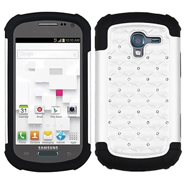 Insten® Lattice Dazzling Protector Cover For Samsung T599 Galaxy Exhibit, White/Black