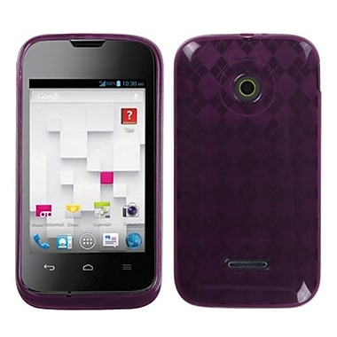 Insten® Argyle Candy Skin Cover For Huawei U8686 Prism II, Purple