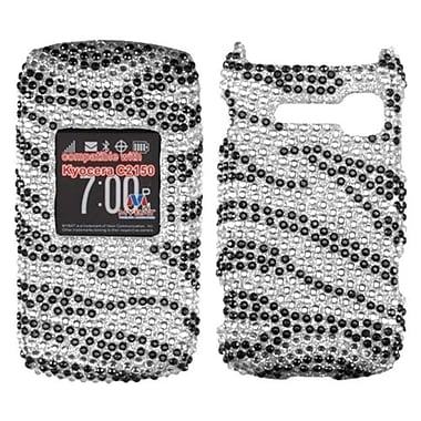 Insten® Diamante Protector Cover For Kyocera C2150, Black Zebra Skin