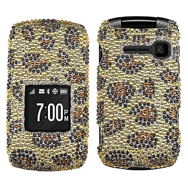 Insten® Diamante Protector Cover For Kyocera C2150, Leopard Skin/Camel