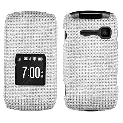Insten® Diamante Protector Cover For Kyocera C2150; Silver