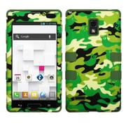 Insten® TUFF Hybrid Phone Protector Cover F/LG P769 Optimus L9, Green Woodland Camo/Army Green