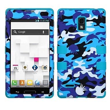 Insten® TUFF Hybrid Phone Protector Cover F/LG P769 Optimus L9, Aquatic Camouflage/Tropical Teal