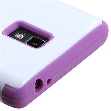 Insten® TUFF Hybrid Phone Protector Cover F/LG P769 Optimus L9, Ivory White/Electric Purple