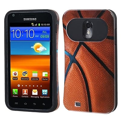 Insten® Back Protector Cover F/Samsung D710, R760, Galaxy S 2 4G, Basketball Black