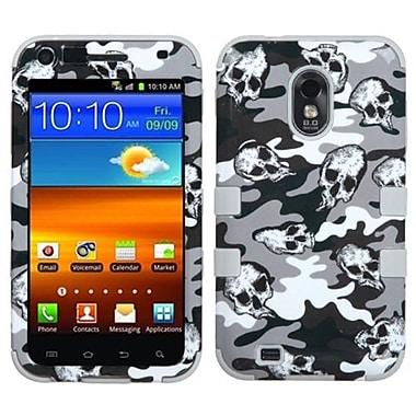 Insten® TUFF Hybrid Phone Protector Cover For Samsung D710, R760, Gray Skull Camo/Gray