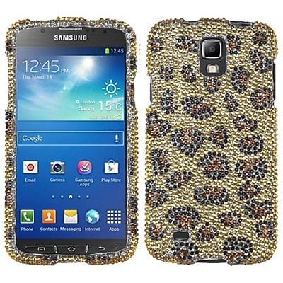Insten® Diamante Protector Case For Samsung i537 (Galaxy S4 Active); Leopard Skin/Camel