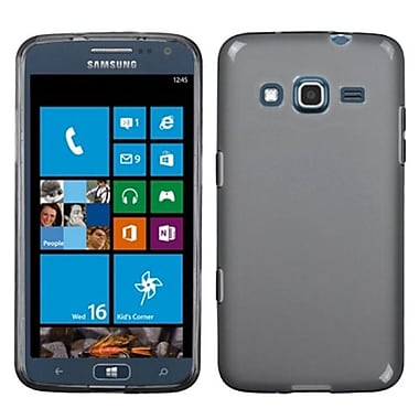 Insten® Rubberized Candy Skin Case For Samsung i800 ATIV S Neo, Semi Transparent Smoke
