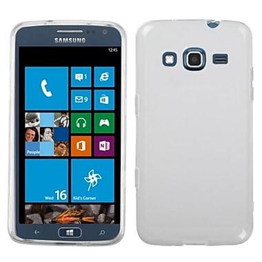Insten® Rubberized Candy Skin Case For Samsung i800 ATIV S Neo, Semi Transparent White