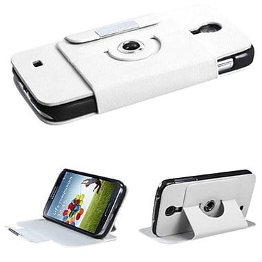 Insten® Premium Rotatable MyJacket Wallet For Samsung Galaxy S4, White