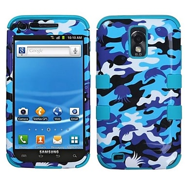 Insten® TUFF Hybrid Phone Protector Cover F/Samsung T989 Galaxy S2, Aquatic Camouflage/Tropical Teal