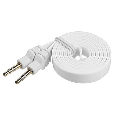 Insten® 1.2m Noodle Audio Cables With 3.5 to 3.5 Plug, White