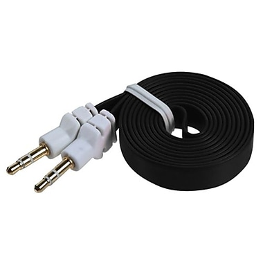 Insten Noodle 3.9 ft Audio Cables With 3.5mm To 3.5mm Plug, Black (1337554)
