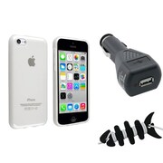 Insten® 1388440 3-Piece iPhone Car Charger Bundle For Apple iPhone 5C