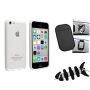 Insten® 1388446 3-Piece iPhone Headset Smart Wrap Bundle For Apple iPhone 5C