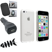 Insten® 1388450 4-Piece iPhone Car Charger Bundle For Apple iPhone 5C