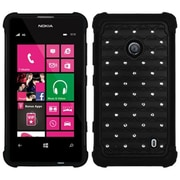 Insten® Luxurious Lattice Dazzling Protector Cover For Nokia Lumia 521, Black/Black