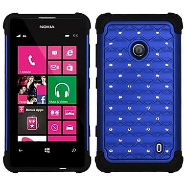 Insten® Luxurious Lattice Dazzling Protector Cover For Nokia Lumia 521, Dark Blue/Black