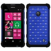 Insten® Luxurious Lattice Dazzling Protector Cover For Nokia Lumia 521, Dark Blue/Black