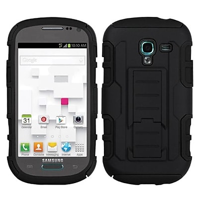 Insten® Car Armor Stand Protector Case For Samsung T599 Galaxy Exhibit, Black/Black