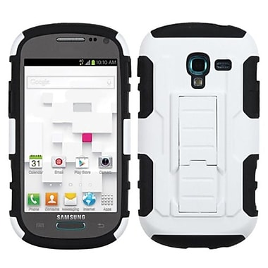 Insten® Car Armor Stand Protector Case For Samsung T599 Galaxy Exhibit, White/Black