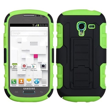 Insten Car Armor Stand Protector Case For Samsung T599 Galaxy Exhibit, Black/Electric Green (1397182)