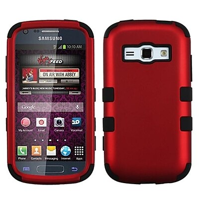 Insten® Hybrid Phone Protector Cover For Samsung M840/Galaxy Prevail 2, Titanium Red/Black