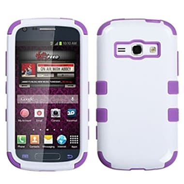 Insten® Hybrid Phone Protector Cover For Samsung M840/Galaxy Prevail 2, Ivory White/Electric Purple
