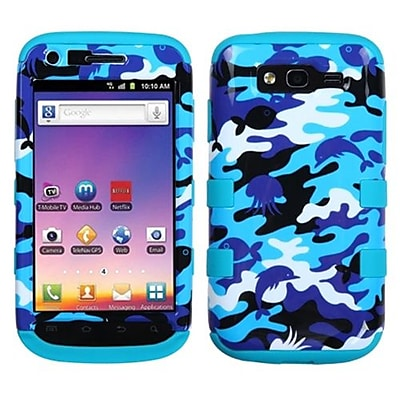 Insten® Phone Protector Case For Samsung T769 Galaxy S Blaze 4G; Aquatic Camouflage/Tropical Teal