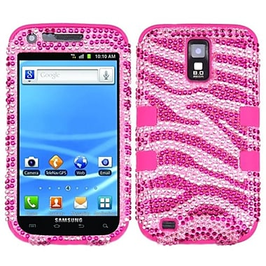 Insten® Hybrid Protector Case For Samsung T989 Galaxy S2, Zebra Skin (Pink/Hot Pink)