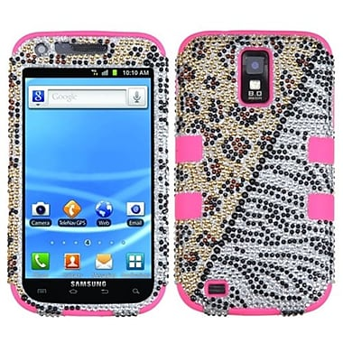 Insten® Hybrid Protector Case For Samsung T989 Galaxy S2, Hottie/Electric Pink