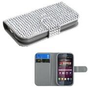 Insten® Book-Style MyJacket Wallet For Samsung M840, Silver Diamonds