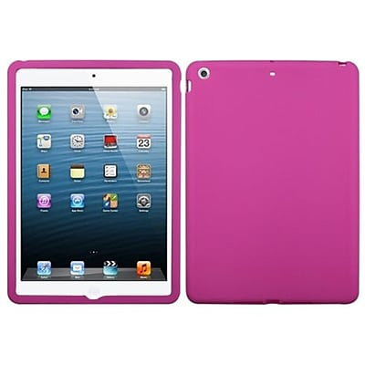 Insten® Solid Skin Case For Apple iPad Air; Hot-Pink (1467292)