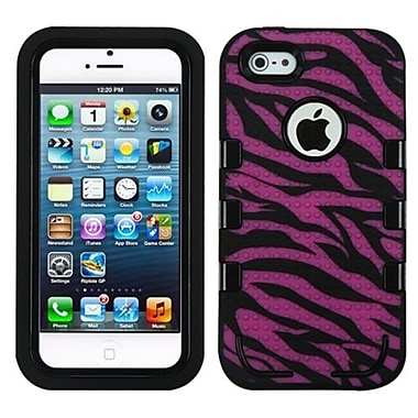 Insten® TUFF eNUFF Hybrid Phone Protector Cover F/iPhone 5/5S, Natural Black/Pink Zebra Skin