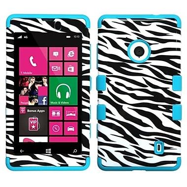 Insten® TUFF Hybrid Phone Protector Case For Nokia Lumia 521, Zebra Skin/Tropical Teal