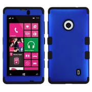 Insten® TUFF Hybrid Phone Protector Case For Nokia Lumia 521, Titanium Dark Blue/Black