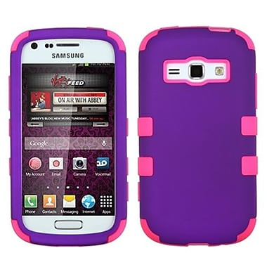 Insten® Rubberized TUFF Hybrid Phone Protector Case For Samsung M840, Grape/Electric Pink