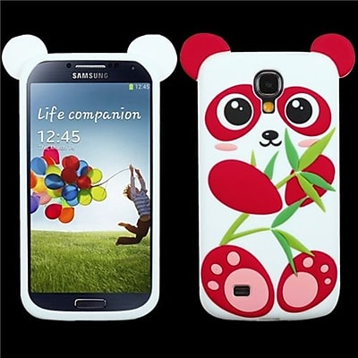 Insten® Skin Case For Samsung Galaxy S4; Red/White Panda Pastel
