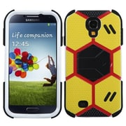 Insten® Hybrid Protector Case With Stand For Samsung Galaxy S4, Yellow/Black Goalkeeper
