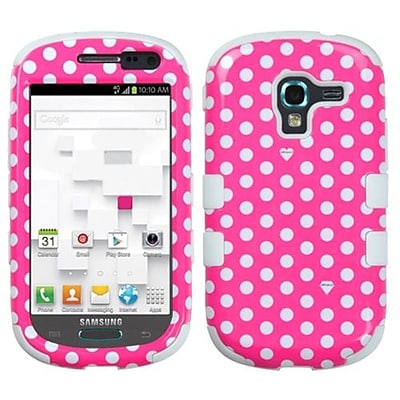 Insten® Hybrid Protector Case For Samsung T599 Galaxy Exhibit, Dots Pink/White