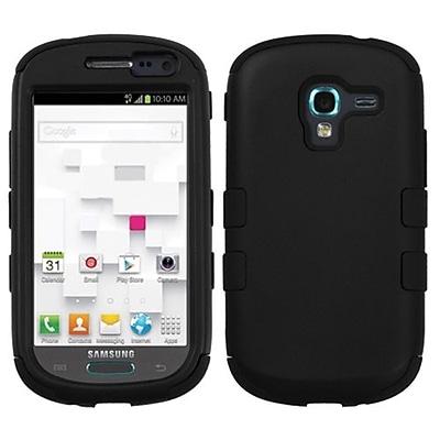 Insten® TUFF Hybrid Phone Protector Case For Samsung T599 Galaxy Exhibit; Black/Black