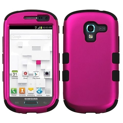 Insten® Hybrid Protector Case For Samsung T599 Galaxy Exhibit, Titanium Solid Hot-Pink/Black