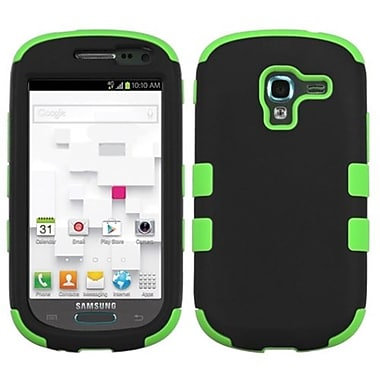 Insten® TUFF Hybrid Phone Protector Case For Samsung T599 Galaxy Exhibit, Black/Electric Green