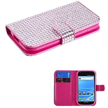 Insten® Diamonds Book-Style MyJacket Wallet With Card Slot For Samsung T989 Galaxy S2, Pink
